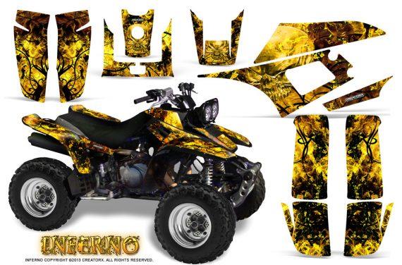 Yamaha Warrior 350 CreatorX Graphics Kit Inferno Yellow 570x376 - Yamaha Warrior 350 Graphics