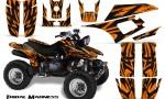 Yamaha Warrior 350 CreatorX Graphics Kit Tribal Madness Orange 150x90 - Yamaha Warrior 350 Graphics