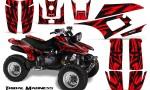 Yamaha Warrior 350 CreatorX Graphics Kit Tribal Madness Red 150x90 - Yamaha Warrior 350 Graphics