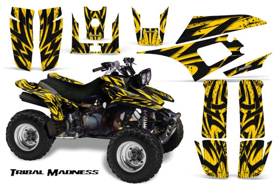 Yamaha Warrior 350 CreatorX Graphics Kit Tribal Madness Yellow 570x376 - Yamaha Warrior 350 Graphics