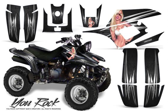 Yamaha Warrior 350 CreatorX Graphics Kit You Rock Black 570x376 - Yamaha Warrior 350 Graphics