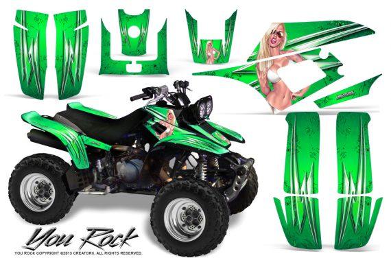 Yamaha Warrior 350 CreatorX Graphics Kit You Rock Green 570x376 - Yamaha Warrior 350 Graphics