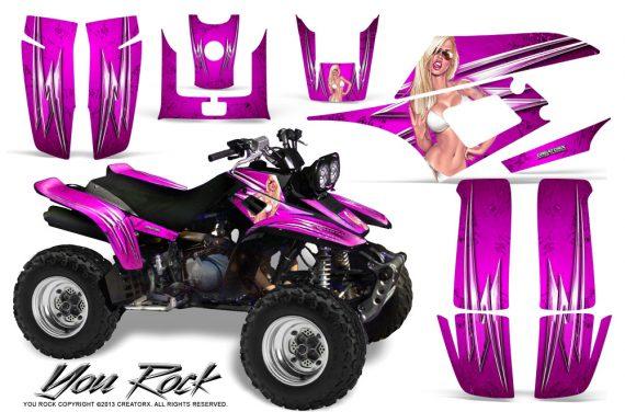 Yamaha Warrior 350 CreatorX Graphics Kit You Rock Pink 570x376 - Yamaha Warrior 350 Graphics