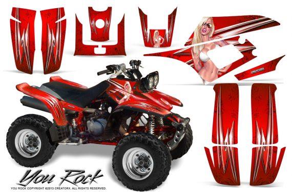 Yamaha Warrior 350 CreatorX Graphics Kit You Rock Red 570x376 - Yamaha Warrior 350 Graphics