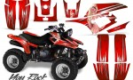 Yamaha Warrior 350 CreatorX Graphics Kit You Rock Red BB 150x90 - Yamaha Warrior 350 Graphics