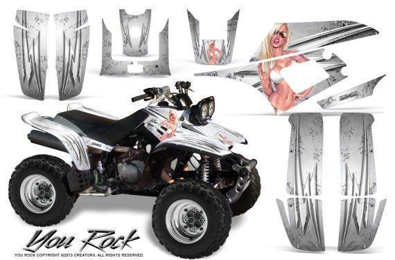 Yamaha Warrior 350 CreatorX Graphics Kit You Rock White 570x376 - Yamaha Warrior 350 Graphics