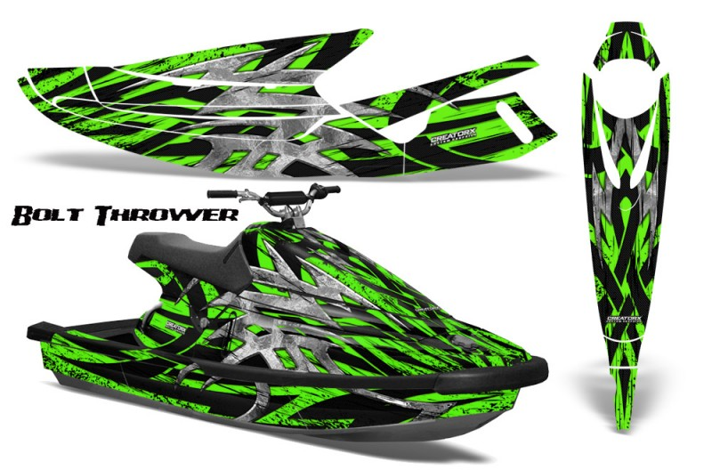 Yamaha-WaveBlaster-93-96-CreatorX-Graphics-Kit-Bolt-Thrower-Green