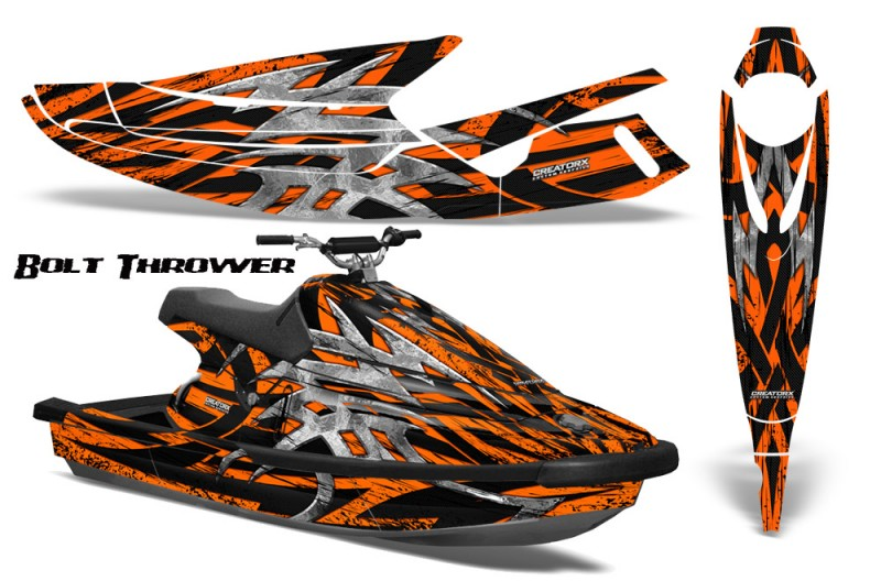 Yamaha-WaveBlaster-93-96-CreatorX-Graphics-Kit-Bolt-Thrower-Orange
