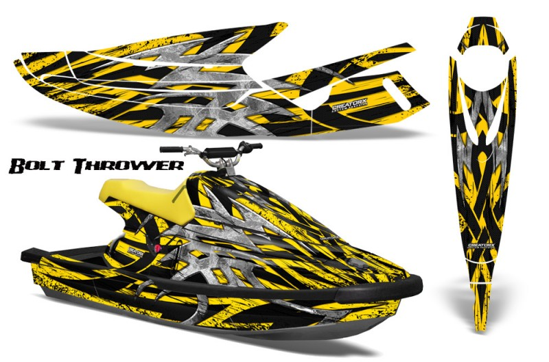 Yamaha-WaveBlaster-93-96-CreatorX-Graphics-Kit-Bolt-Thrower-Yellow