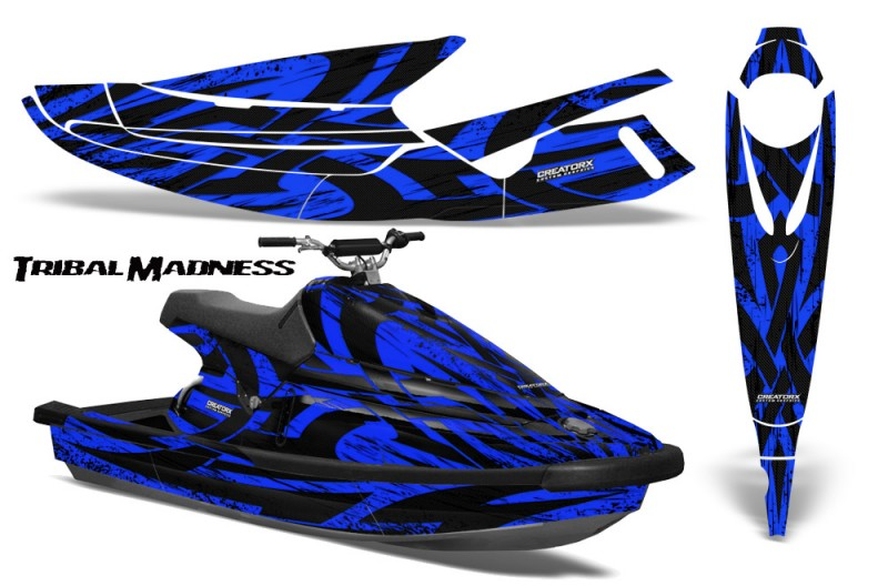 Yamaha-WaveBlaster-93-96-CreatorX-Graphics-Kit-Tribal-Madness-Blue