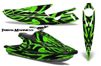 Yamaha-WaveBlaster-93-96-CreatorX-Graphics-Kit-Tribal-Madness-Green
