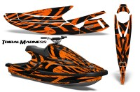 Yamaha-WaveBlaster-93-96-CreatorX-Graphics-Kit-Tribal-Madness-Orange