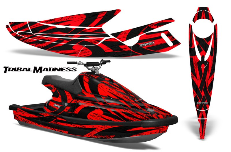 Yamaha-WaveBlaster-93-96-CreatorX-Graphics-Kit-Tribal-Madness-Red