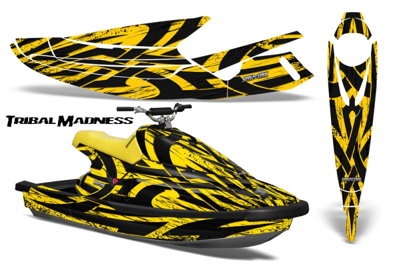 Yamaha-WaveBlaster-93-96-CreatorX-Graphics-Kit-Tribal-Madness-Yellow