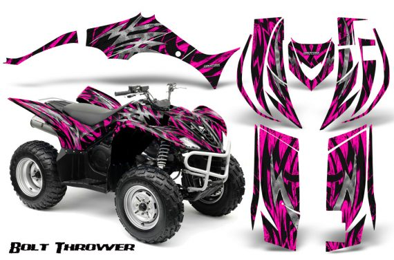 Yamaha Wolverine 06 10 CreatorX Graphics Kit Bolt Thrower Pink 570x376 - Yamaha Wolverine 2006-2012 Graphics