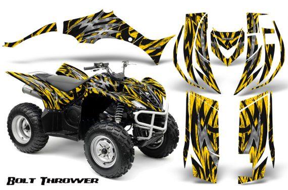 Yamaha Wolverine 06 10 CreatorX Graphics Kit Bolt Thrower Yellow 570x376 - Yamaha Wolverine 2006-2012 Graphics
