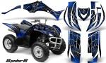 Yamaha Wolverine 06 10 CreatorX Graphics Kit SpiderX Blue 150x90 - Yamaha Wolverine 2006-2012 Graphics