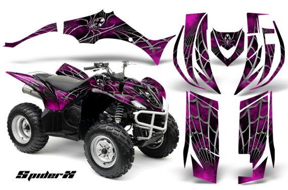 Yamaha Wolverine 06 10 CreatorX Graphics Kit SpiderX Pink 570x376 - Yamaha Wolverine 2006-2012 Graphics