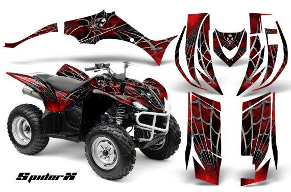 Yamaha Wolverine 06 10 CreatorX Graphics Kit SpiderX Red 570x376 - Yamaha Wolverine 2006-2012 Graphics