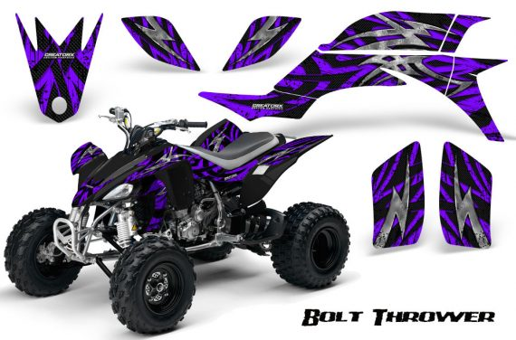 Yamaha YFZ 450 03 08 CreatorX Graphics Kit Bolt Thrower Purple 570x376 - Yamaha YFZ 450 2004-2013 Graphics