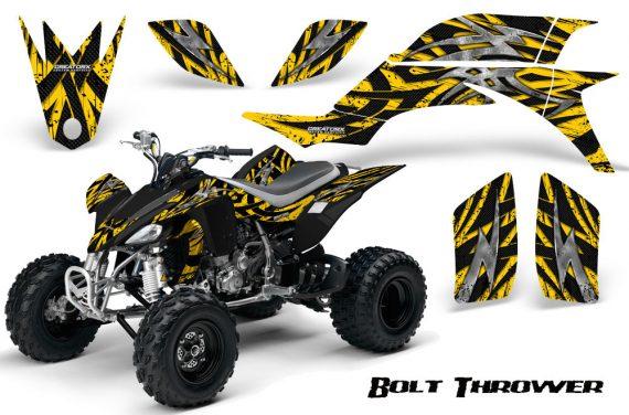 Yamaha YFZ 450 03 08 CreatorX Graphics Kit Bolt Thrower Yellow 570x376 - Yamaha YFZ 450 2004-2013 Graphics