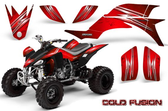 Yamaha YFZ 450 03 08 CreatorX Graphics Kit Cold Fusion Red BB 570x376 - Yamaha YFZ 450 2004-2013 Graphics