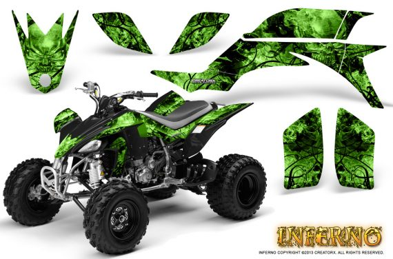 Yamaha YFZ 450 03 08 CreatorX Graphics Kit Inferno Green 570x376 - Yamaha YFZ 450 2004-2013 Graphics