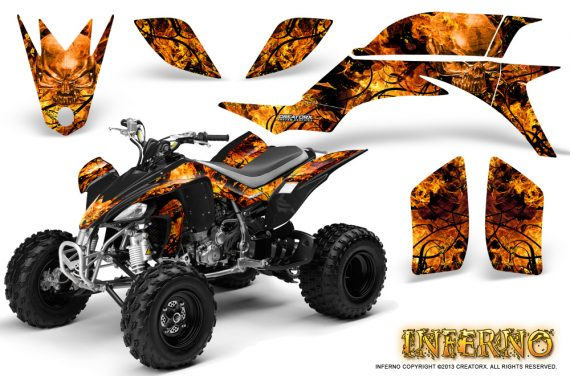 Yamaha YFZ 450 03 08 CreatorX Graphics Kit Inferno Orange 570x376 - Yamaha YFZ 450 2004-2013 Graphics