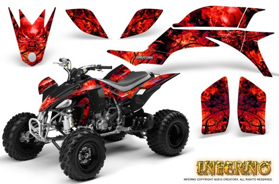 Yamaha YFZ 450 03 08 CreatorX Graphics Kit Inferno Red 570x376 - Yamaha YFZ 450 2004-2013 Graphics