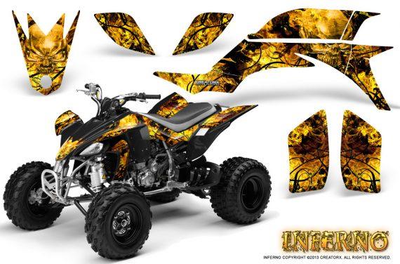 Yamaha YFZ 450 03 08 CreatorX Graphics Kit Inferno Yellow 570x376 - Yamaha YFZ 450 2004-2013 Graphics