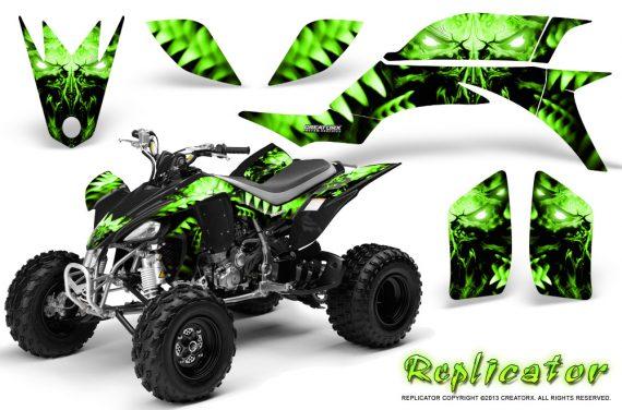Yamaha YFZ 450 03 08 CreatorX Graphics Kit Replicator Green 570x376 - Yamaha YFZ 450 2004-2013 Graphics
