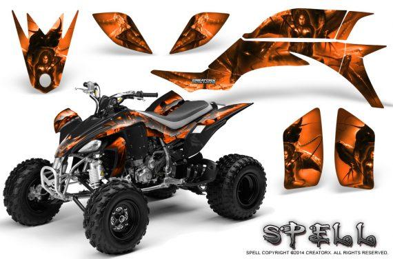 Yamaha YFZ 450 03 08 CreatorX Graphics Kit Spell Orange 570x376 - Yamaha YFZ 450 2004-2013 Graphics