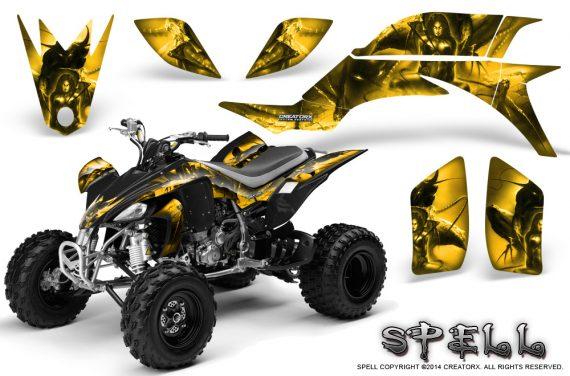 Yamaha YFZ 450 03 08 CreatorX Graphics Kit Spell Yellow 570x376 - Yamaha YFZ 450 2004-2013 Graphics