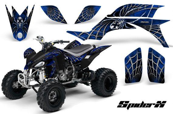 Yamaha YFZ 450 03 08 CreatorX Graphics Kit SpiderX Blue 570x376 - Yamaha YFZ 450 2004-2013 Graphics