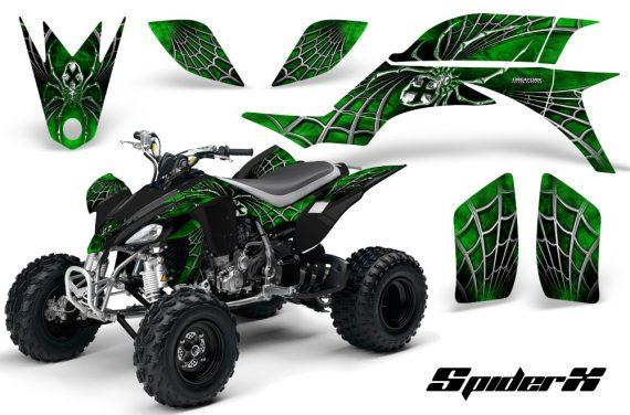 Yamaha YFZ 450 03 08 CreatorX Graphics Kit SpiderX Green 570x376 - Yamaha YFZ 450 2004-2013 Graphics