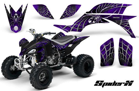 Yamaha YFZ 450 03 08 CreatorX Graphics Kit SpiderX Purple 570x376 - Yamaha YFZ 450 2004-2013 Graphics