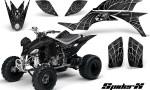 Yamaha YFZ 450 03 08 CreatorX Graphics Kit SpiderX Silver Black 150x90 - Yamaha YFZ 450 2004-2013 Graphics