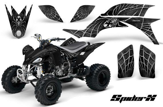 Yamaha YFZ 450 03 08 CreatorX Graphics Kit SpiderX Silver Black 570x376 - Yamaha YFZ 450 2004-2013 Graphics
