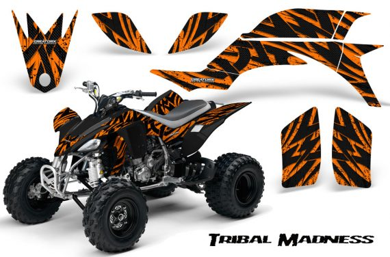 Yamaha YFZ 450 03 08 CreatorX Graphics Kit Tribal Madness Orange 570x376 - Yamaha YFZ 450 2004-2013 Graphics
