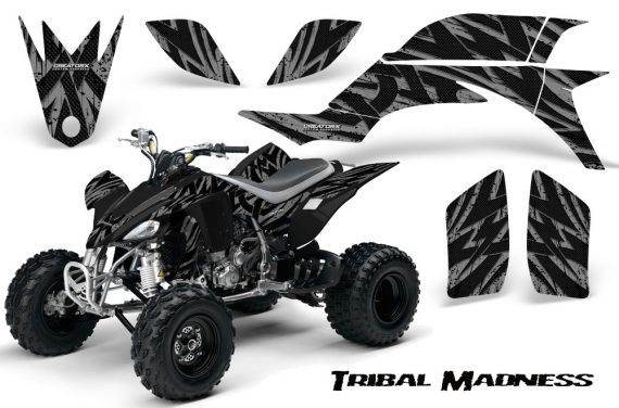 Yamaha YFZ 450 03 08 CreatorX Graphics Kit Tribal Madness Silver 570x376 - Yamaha YFZ 450 2004-2013 Graphics