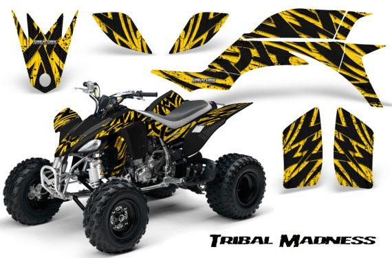 Yamaha YFZ 450 03 08 CreatorX Graphics Kit Tribal Madness Yellow 570x376 - Yamaha YFZ 450 2004-2013 Graphics