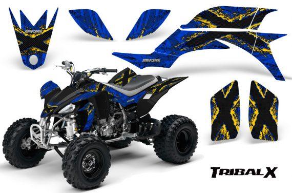 Yamaha YFZ 450 03 08 CreatorX Graphics Kit TribalX Yellow Blue 570x376 - Yamaha YFZ 450 2004-2013 Graphics
