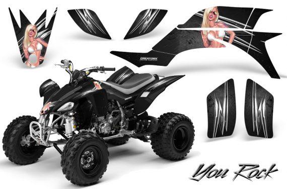 Yamaha YFZ 450 03 08 CreatorX Graphics Kit You Rock Black 570x376 - Yamaha YFZ 450 2004-2013 Graphics
