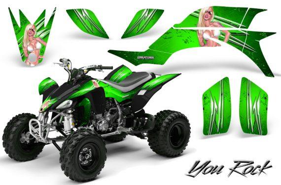 Yamaha YFZ 450 03 08 CreatorX Graphics Kit You Rock Green 570x376 - Yamaha YFZ 450 2004-2013 Graphics
