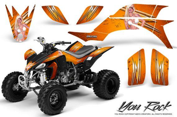 Yamaha YFZ 450 03 08 CreatorX Graphics Kit You Rock Orange BB 570x376 - Yamaha YFZ 450 2004-2013 Graphics