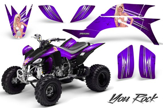 Yamaha YFZ 450 03 08 CreatorX Graphics Kit You Rock Purple 570x376 - Yamaha YFZ 450 2004-2013 Graphics