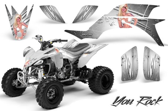Yamaha YFZ 450 03 08 CreatorX Graphics Kit You Rock White 570x376 - Yamaha YFZ 450 2004-2013 Graphics