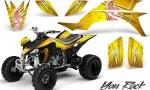 Yamaha YFZ 450 03 08 CreatorX Graphics Kit You Rock Yellow BB 150x90 - Yamaha YFZ 450 2004-2013 Graphics