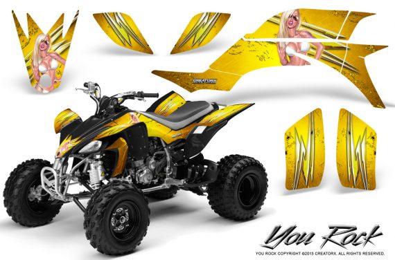 Yamaha YFZ 450 03 08 CreatorX Graphics Kit You Rock Yellow BB 570x376 - Yamaha YFZ 450 2004-2013 Graphics