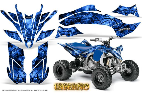Yamaha YFZ450 09 12 CreatorX Graphics Kit Inferno Blue 570x376 - Yamaha YFZ 450R/SE 2009-2013 Graphics